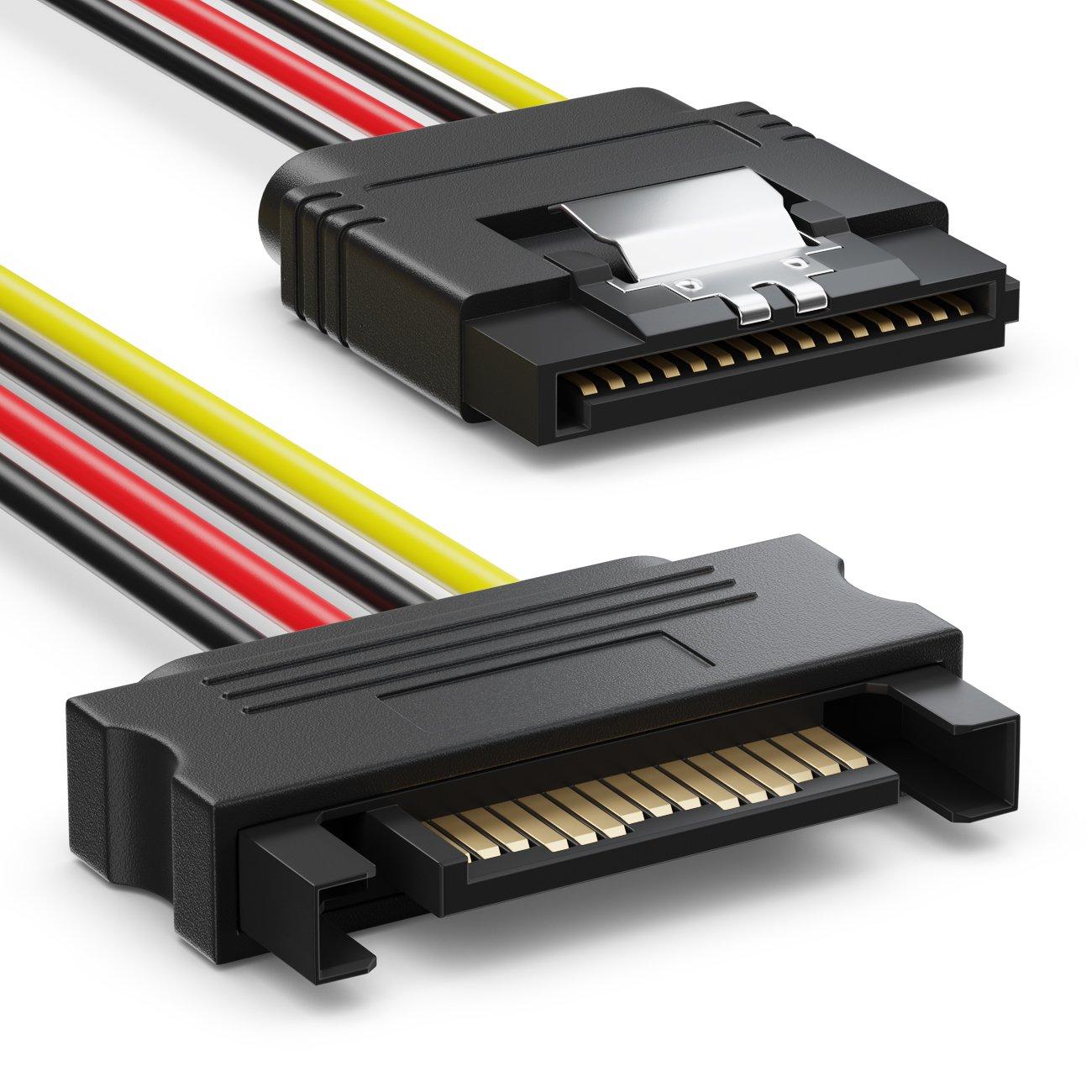 SSD HDD Disque Dur deleyCON MK2944 Lot de c/âbles SATA 4X C/âbles SATA III avec Prises Droites C/âble Adaptateur D/'Alimentation