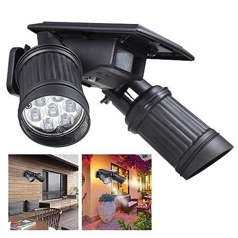 Proyectores LED de doble cabezal Lámpara solar, BAFFECT Luz solar ...