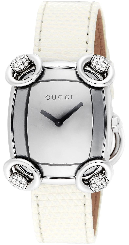 [グッチ]GUCCI 腕時計 ホースビットカクテル シルバー文字盤 リザード革 YA117506 レディース 【並行輸入品】 B00NXO3BDS