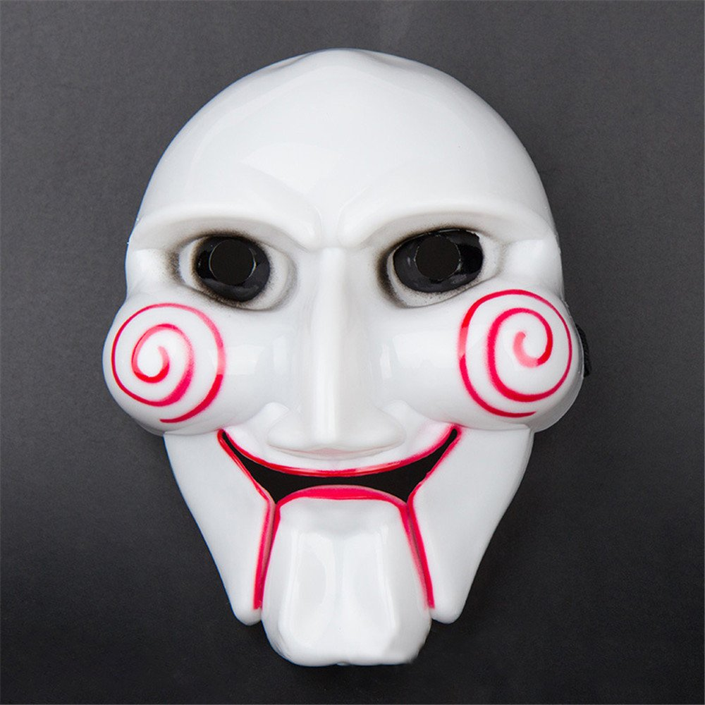 Halloween Party Mask Cosplay Disgusting Face Mask Terror Mask Head Mask for Any Occasion, Theme Party, Birthday Party, Family Gathering ( White) by Hisoul (Image #2)