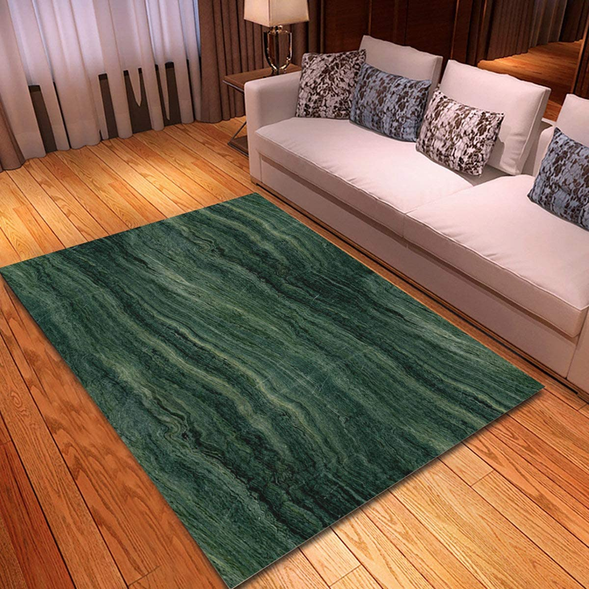 Rouihot Non Slip Area Rug 2 X 3 Stone Green Marble Abstract Pattern Modern Emerald Onyx Rock Rugs Carpet For Classroom Living Room Bedroom Dining Kindergarten Room Kitchen Dining