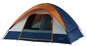 Amazon Wenzel Salmon River 2 Room Family Dome Tent Orange