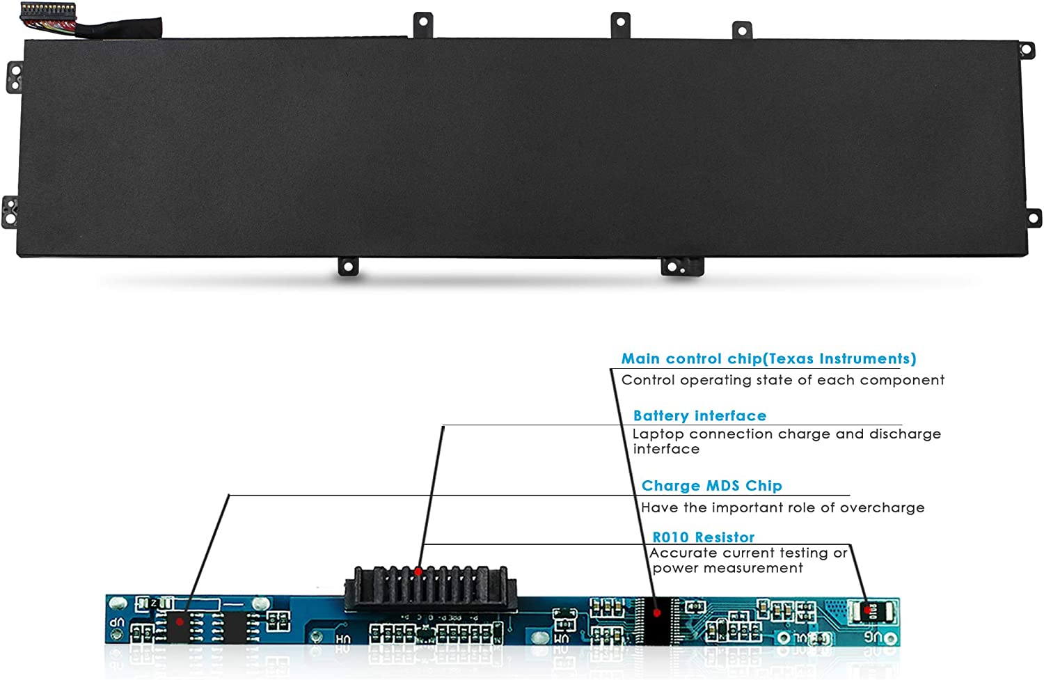 Fits P//N 4GVGH 1P6KD 11.4V // 84Wh DELL XPS 5510 Battery XPS 15 9550 Series AYIPE High-Performance Replacement Laptop Battery for DELL Precision 5510