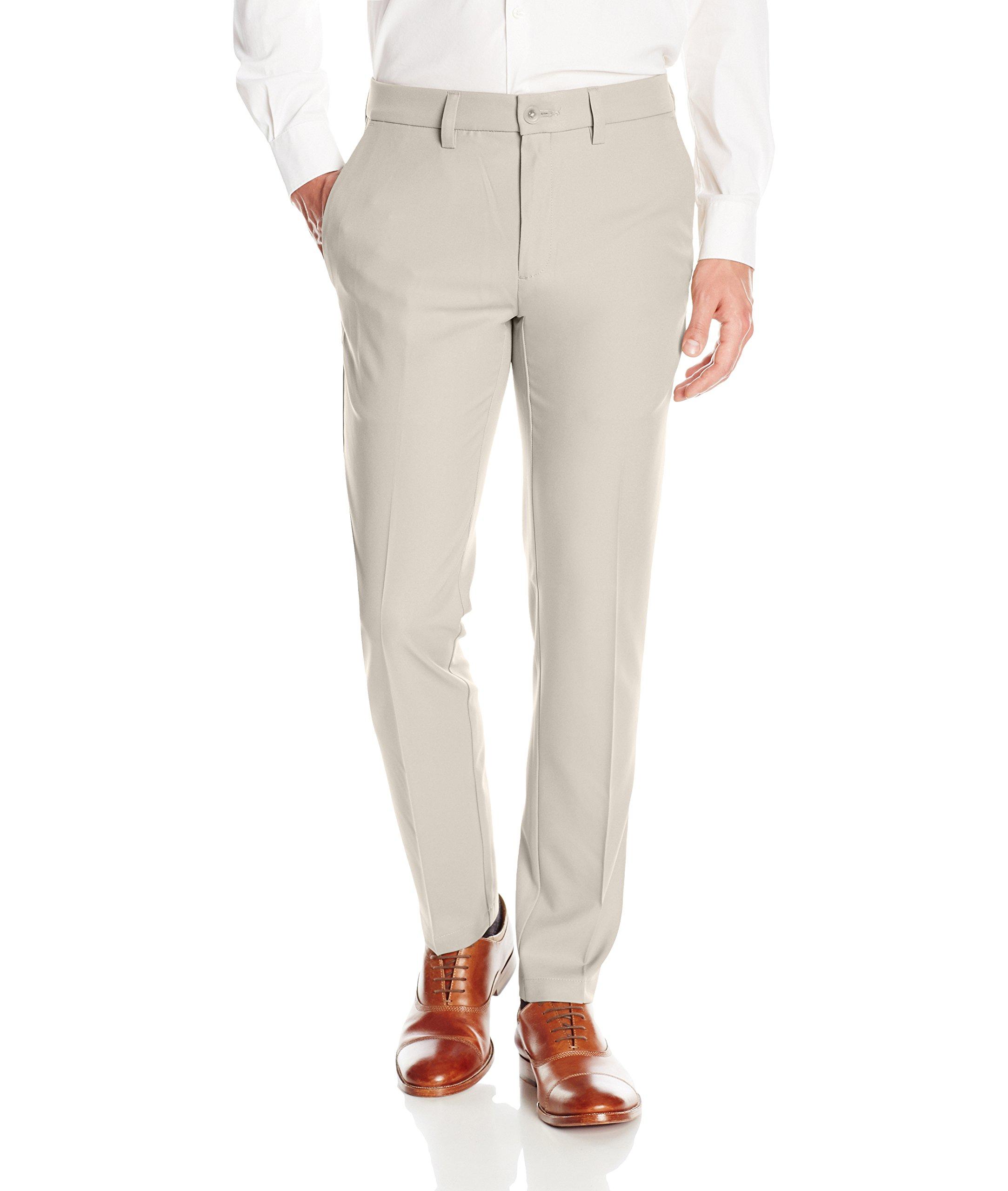 b70fd1286bb Haggar Men s Cool 18 Pro Slim Fit Flat Front Superflex Waistband Pant