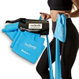 Super Exercise Band Medium+ Sky Blue 7 ft. Long Resistance Band. Latex Free Home Gym Fitness Kit for Strength Training…