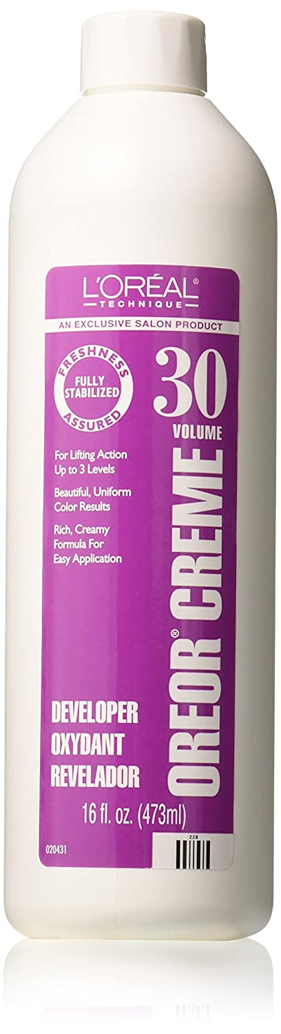 L'Oreal Oreor 30 Volume Creme Developer, 16 Ounce