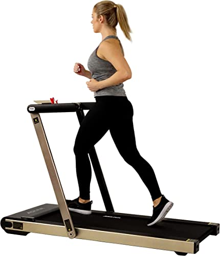 ASUNA Space Saving Treadmill, Flat Folding with Speakers for AUX Audio Connection – 8730 G