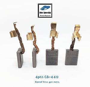 4pcs longlife CB440 Carbon Brushes replacement for Makita CB-440 CB-448 CB-436 195021-6 194427-5, 194159-4, CB434,191975-5, 195020-8, 193466-2 (4 pcs/pack)