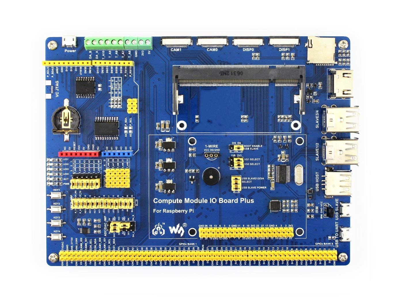Compute Module 3 Development Kit Type A for Raspberry PI Include CM3 IO Board DS18B20 and IR Remote Controller The Pi in a Flexible Form Factor with 4GB eMMC Flash