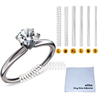 Ring Size Adjuster (Set of 4 Sizes) Snuggies 12 Pack,  Ring Guard for Loose Rings with Silver Polishing Cloth (1.2mm/2mm/3mm/4mm)