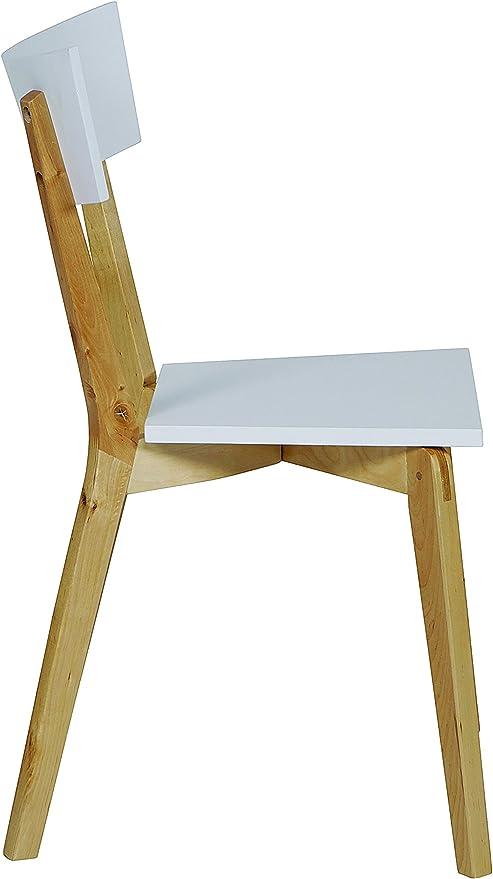 Wink design, Stensele ,Set 2 Sedie, Legno, Bianco