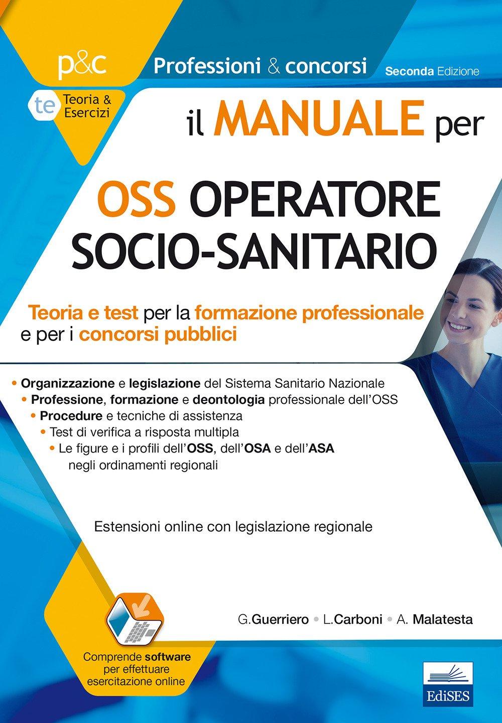 Il Manuale Per Oss Operatore Socio Sanitario Teoria E Test