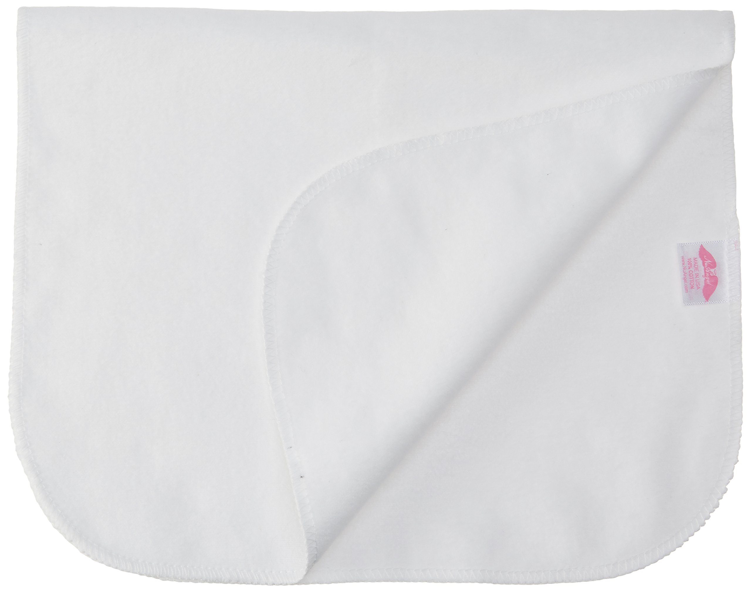 NuAngel 12 Piece Cotton Burp Cloths, White