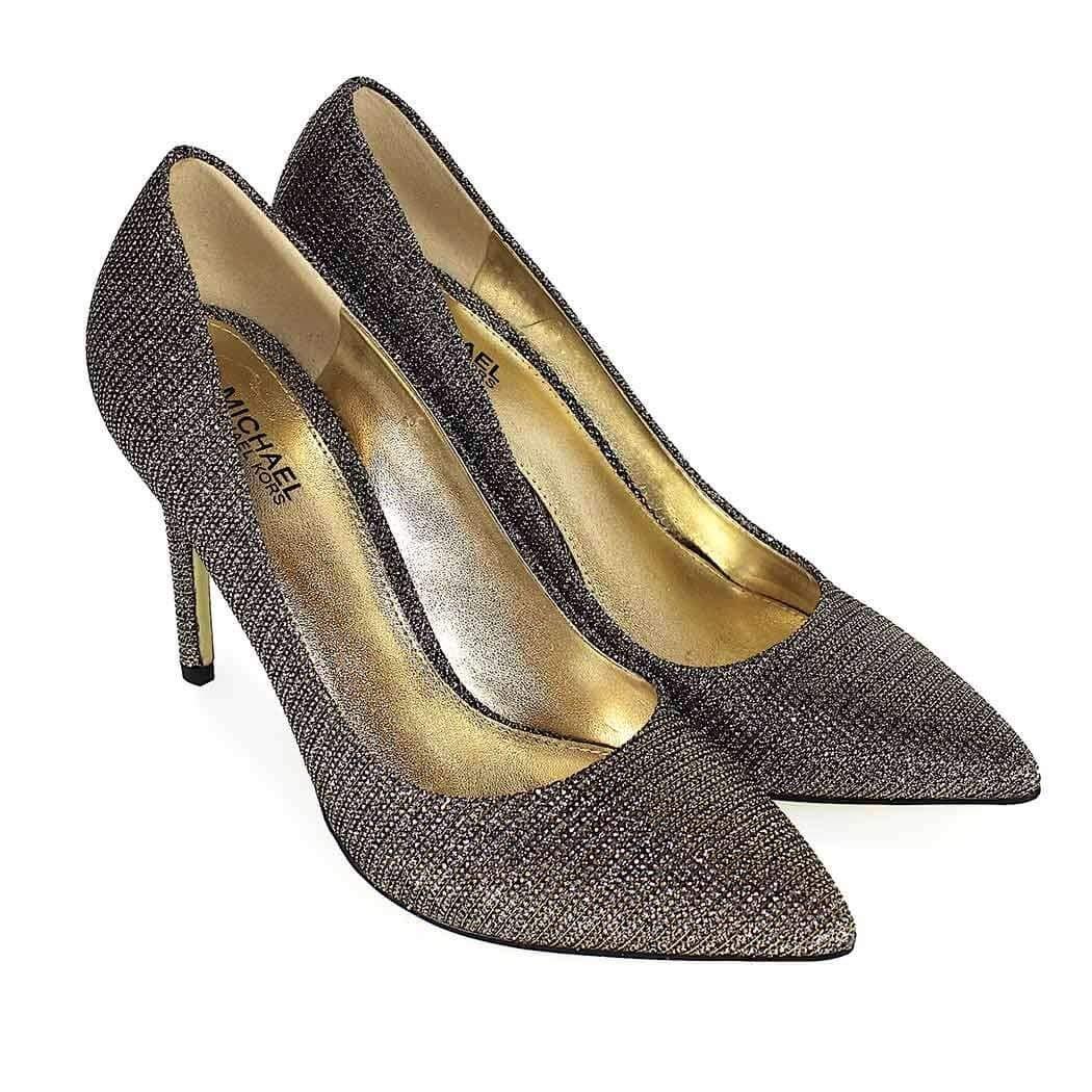 a88e1a48b0 Michael Kors Décolleté Claire Pump Glitter Chain Mesh Taglia 38, 5 - Colore  ORO: Amazon.co.uk: Shoes & Bags