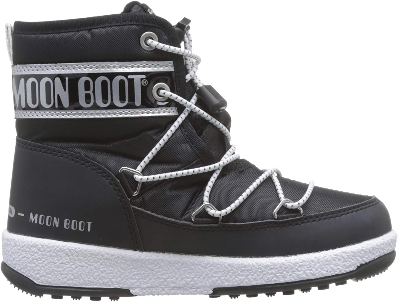 Moon-boot Jr Boy Mid WP Bottes de Neige Gar/çon
