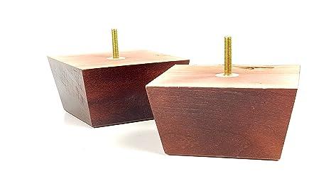 4 patas de madera para muebles de repuesto para sofás ...