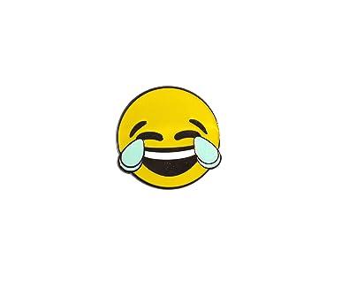 amazon com laugh cry emoji face with tears of joy lapel enamel pin