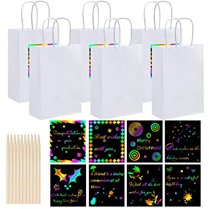 Amazon.com: Cooraby 20 bolsas de papel para fiestas ...
