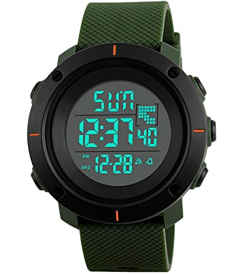 Armbanduhr am arm herren  Herren Jungen Militär Tactical Sport Digitaluhr Led 50M ...