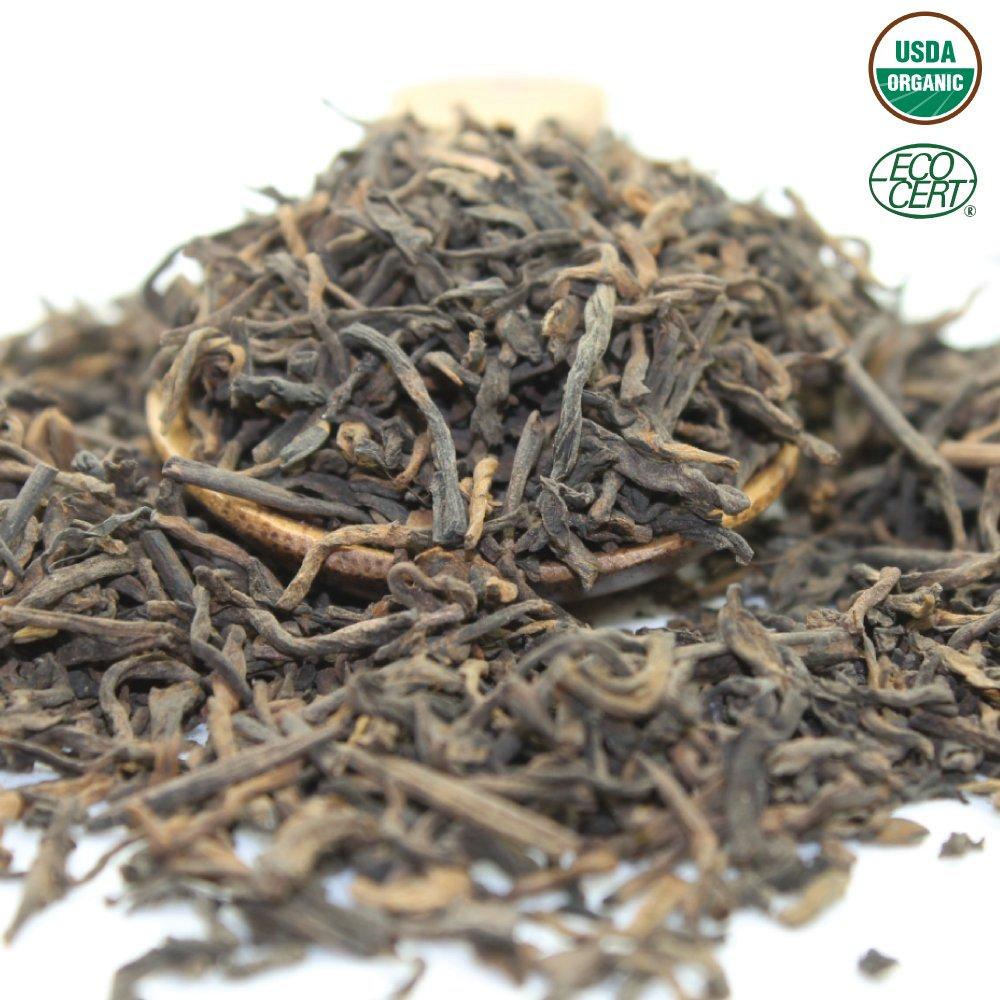Tealyra - Ripe Pu'erh Tea - 5 Years Aged Loose Leaf - 100% Natural And Organic - Caffeine Level High - Lose Weight Tea - Aged Black Tea Pu Er - 450g (16-ounce) by Tealyra