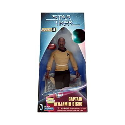 STAR TREK Captain Benjamin Sisko Deep Space Nine 9 INCH Warp Factor Series 4 Fully Articulated Action Figure: Toys & Games