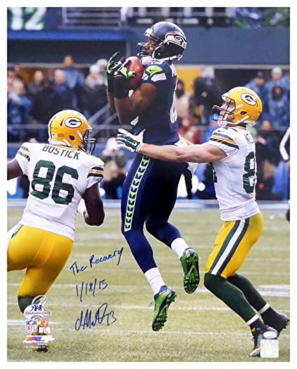 5b0bd789d Chris Matthews Autographed Signed 16x20 Photo Seattle Seahawks The Recovery  1 18 15 -