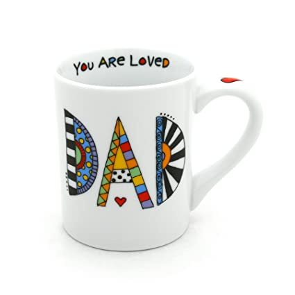 "a82a5adb1fb Image Unavailable. Image not available for. Color: Our Name is Mud ""Loved  Dad"" Cuppa Doodle Porcelain Mug ..."