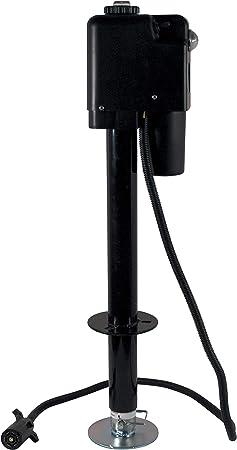 Capacity 3650 lb Jack Quick 3500 JQ-3500B-7P 12-Volt Electric Tongue Jack with Black Cover and 7-Way Plug