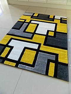 Yellow Grey Rug Uk Home Decor