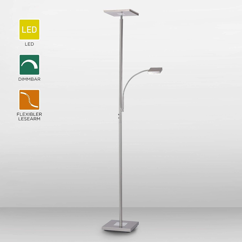 Leuchtendirekt Led Stehlampe Dimmbar Deckenfluter Mit Leselampe