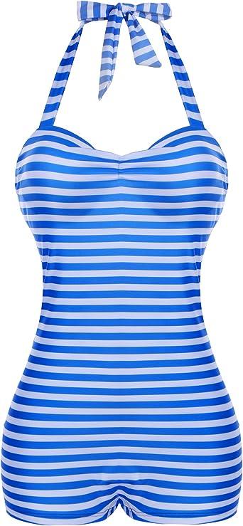 JerrisApparel Womens Retro Plus Size Swimdress Two Pieces Swimsuit