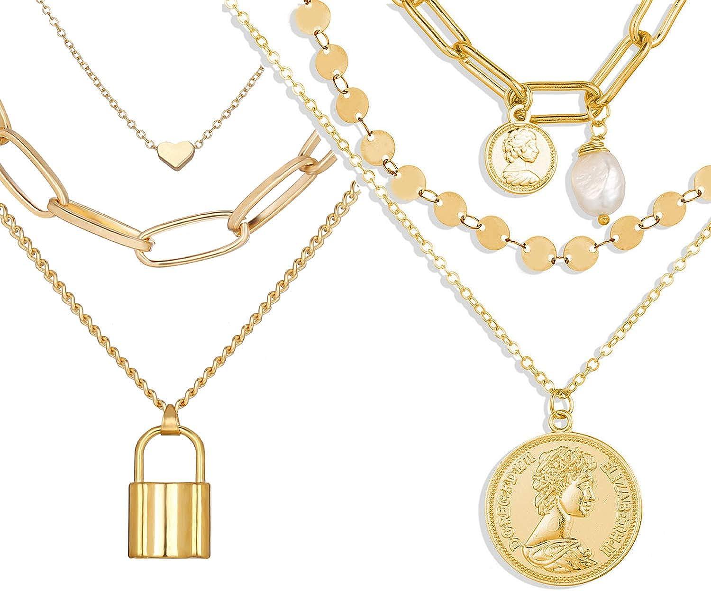 Fashion Simple Double layers Choker Heart Pendant Necklace Chain Women Jewelry