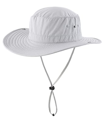 d085888d650 Decentron Unisex Daily Outdoor Cowboy Sun Hat Wide Brim Bucket Fishing Hats  Summer String Hat Cap  Amazon.co.uk  Clothing