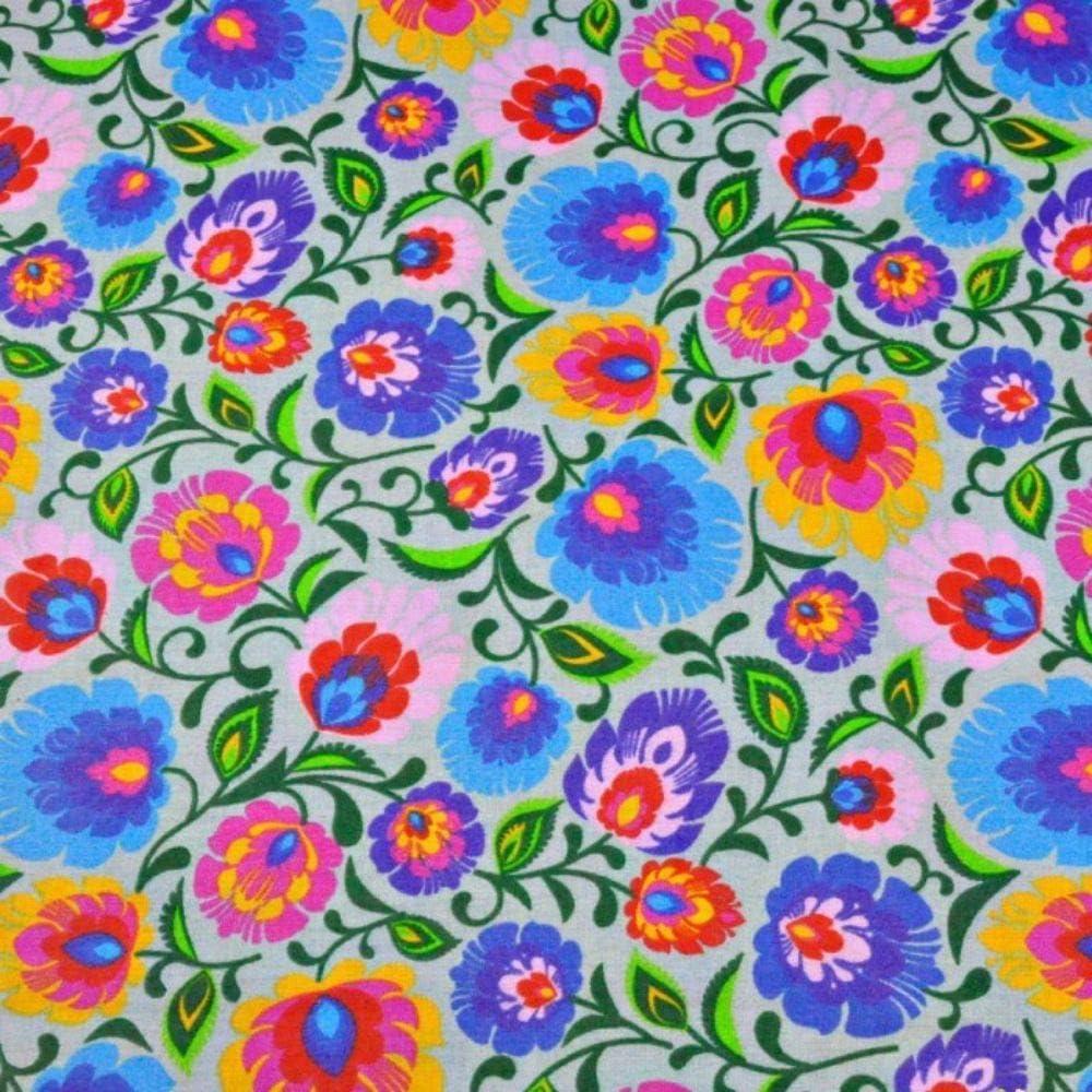 Pingianer - Tela 100 % algodón de 100 x 160 cm, con flores, venta ...
