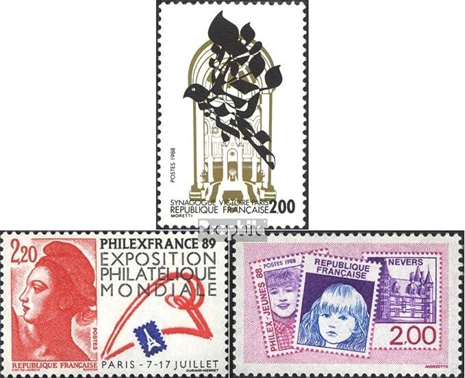 Prophila Collection Francia Michel.-No..: 2654,2661,2664 (Completa.edición.) 1988 Sinagoga, filatelia (Sellos para los coleccionistas) Sello en Sello: Amazon.es: Juguetes y juegos