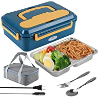 LZAHDP Electric Lunch Box for Car Truck and Work 3 in 1 Portable Food Warmer Heater SS Fork & Spoon and Insulation Lunch…