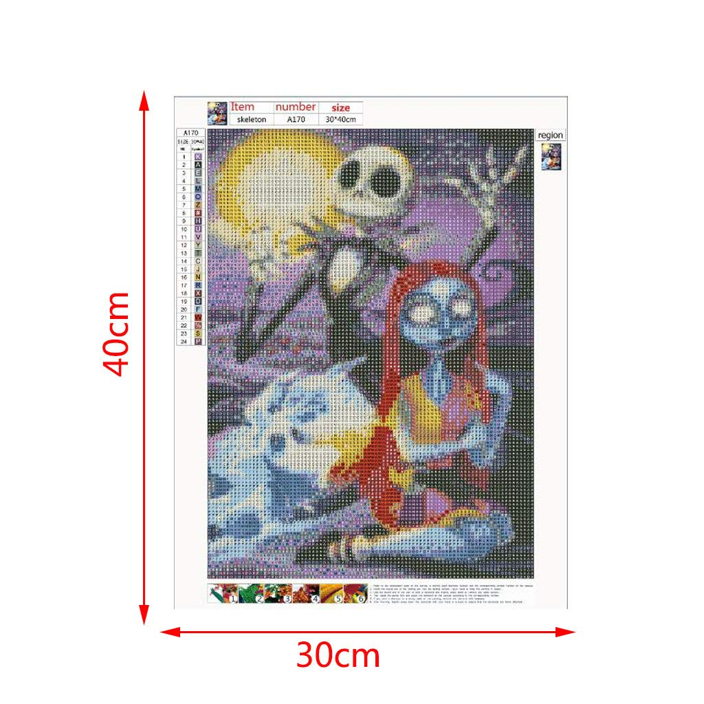 Leezeshaw 5D DIY Diamond Painting by Number Kits Fameless Rhinestone Embroidery Paintings Pictures for Home Decor Ariel 40x50cm