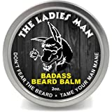 Badass Beard Care Beard Balm - The Ladies Man Scent, 2 Ounce - All Natural Ingredients, Soften Hair, Hydrate Skin to Get Rid