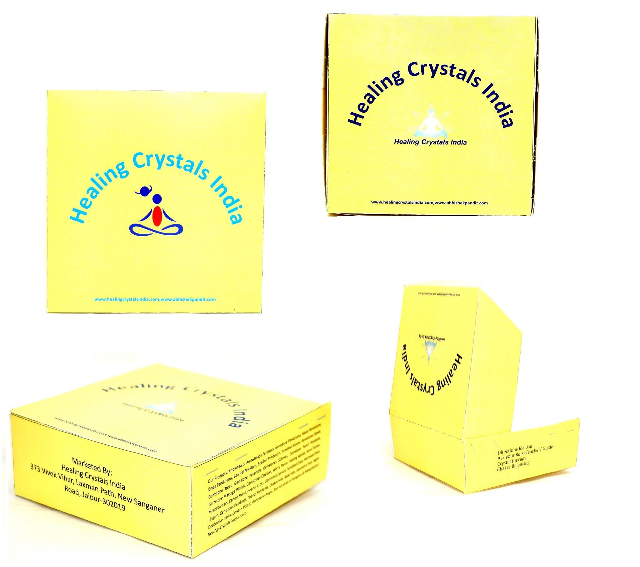 Healing Crystals India 40-50mm Natural Gemstone Sphere Ball Aura Balancing Metaphysical Ball (Rainbow Moonstone) by Healing Crystals India (Image #3)
