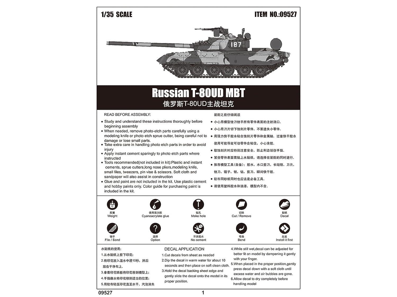 Trumpeter 09527 1//35 Russian T-80UD Main Battle Tank