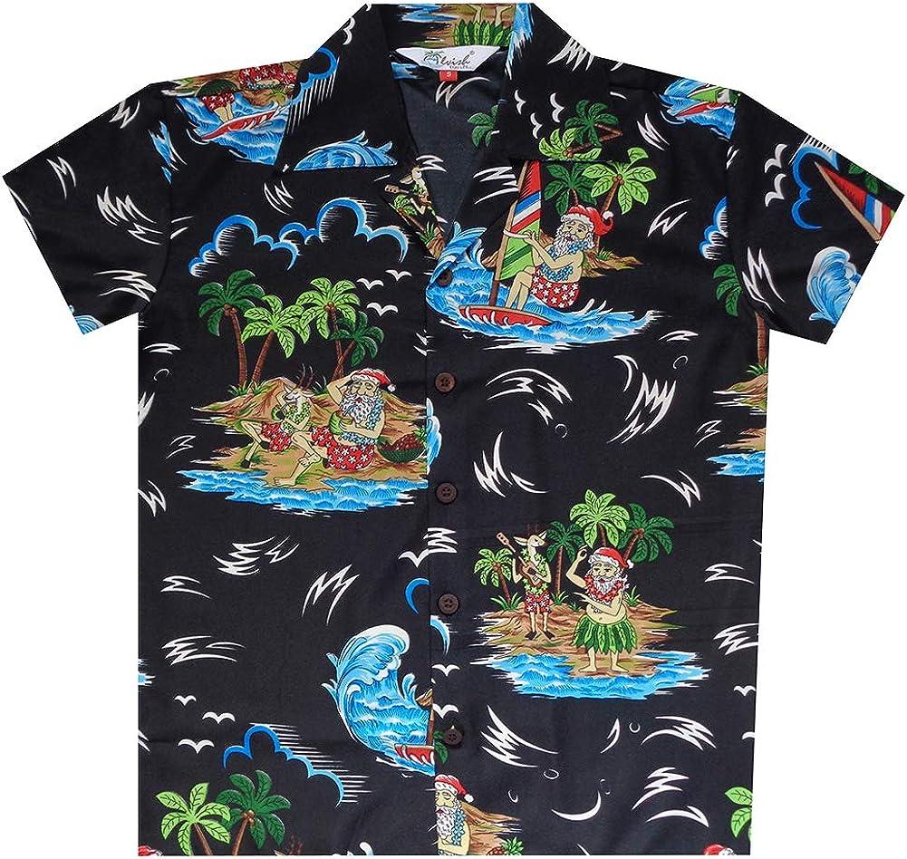 Camp Urlaub Aloha-Party Strand Kurzarm Hawaii-Shirts f/ür Jungen Allover-Druck