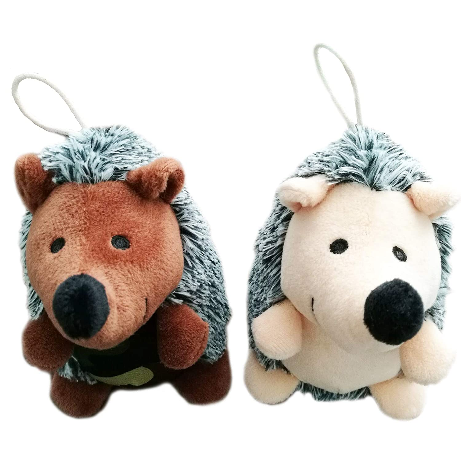 OEXEO Puppy Toys,2 Pack Pet Squeaky Toys Stuffed Plush Hedgehog Dog Toys