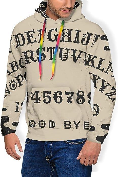 LAOLUCKY Ouija Board suéter Digital para Hombre, su&
