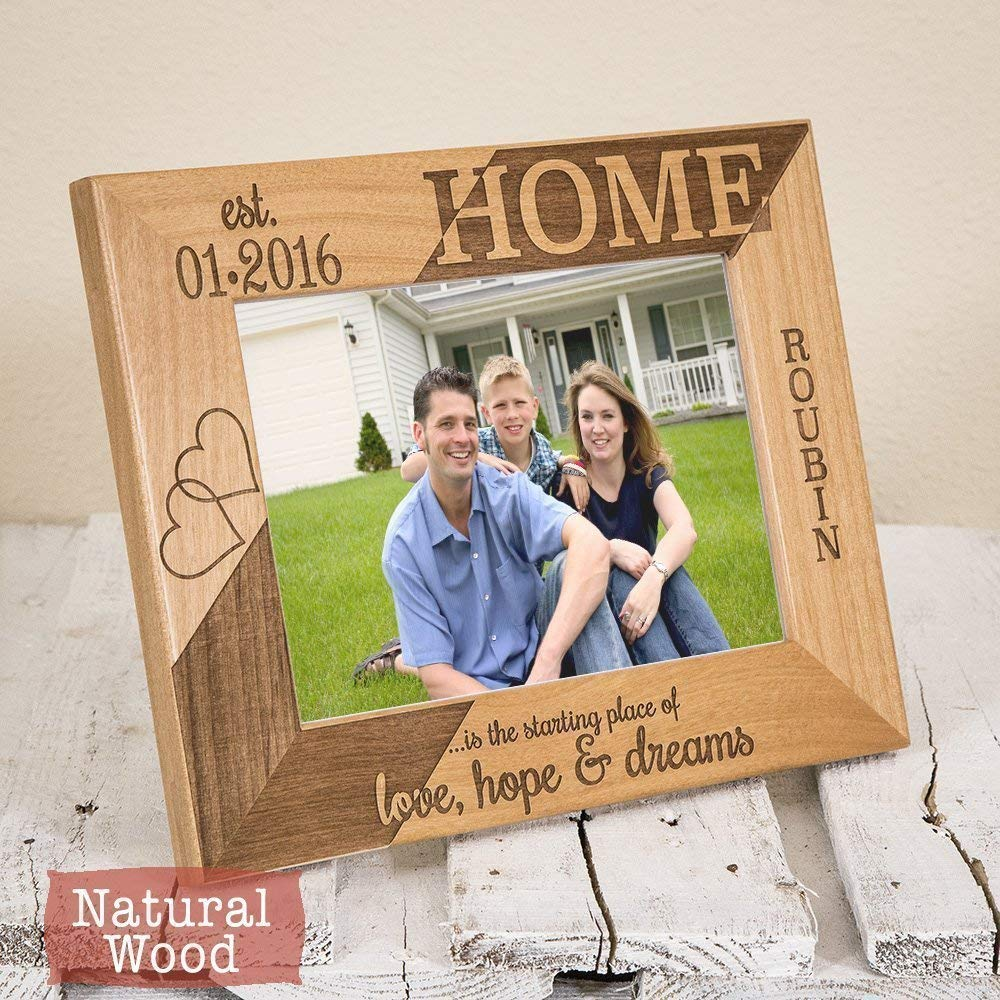New Home Decor New Home Gifts New Home Housewarming Gift Home Frame Personalized New Home Frame
