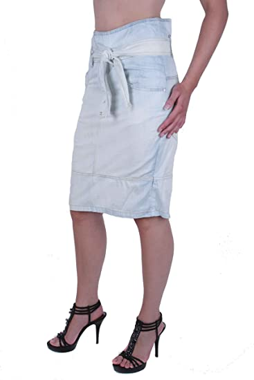 6e5fb72d6 Diesel NYSS02.11 Gonna Ladies Skirt Denim Light Blue: Amazon.co.uk: Clothing