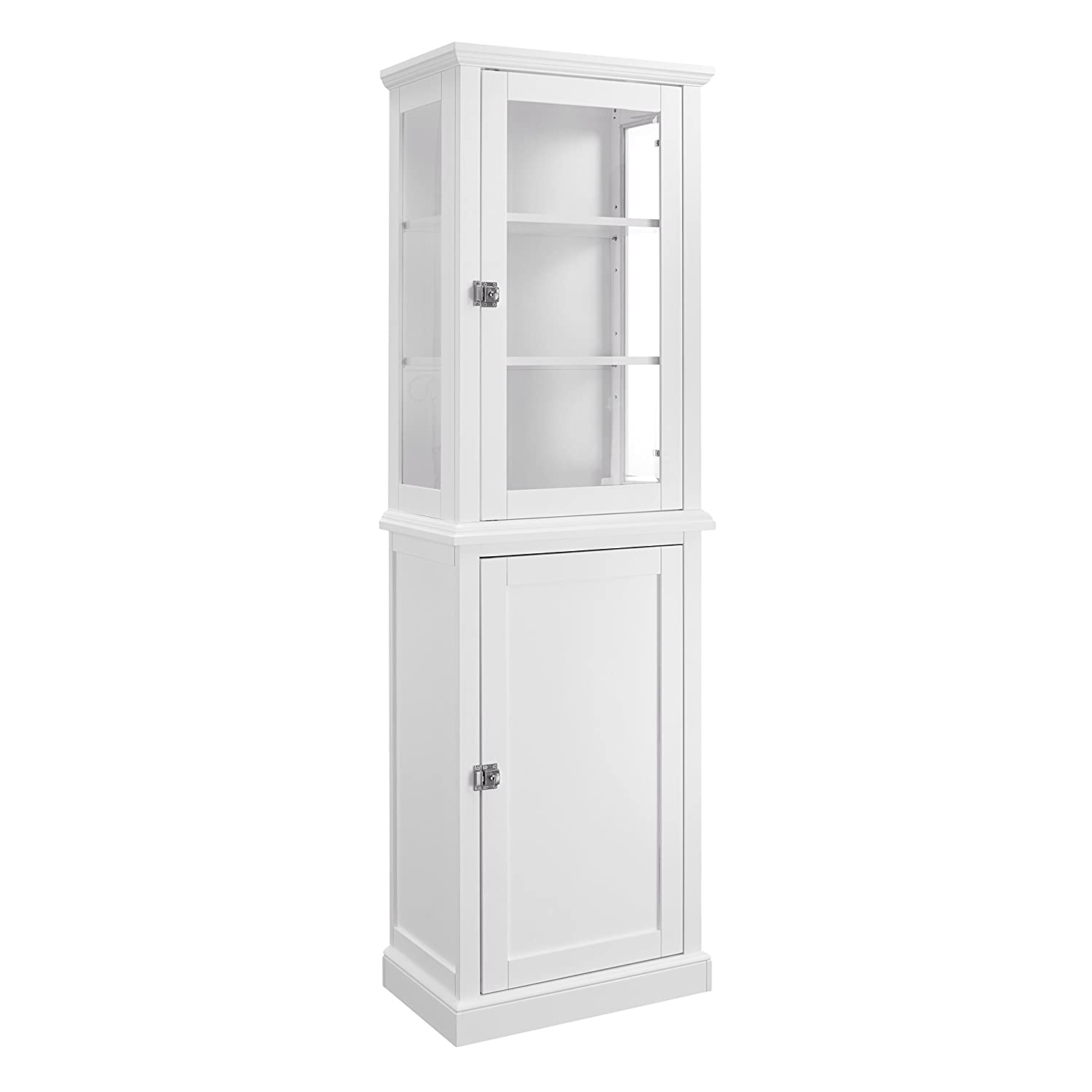 amazon com scarsdale tall bathroom cabinet white kitchen dining rh amazon com tall mirror bathroom cabinet white tall white freestanding bathroom cabinet