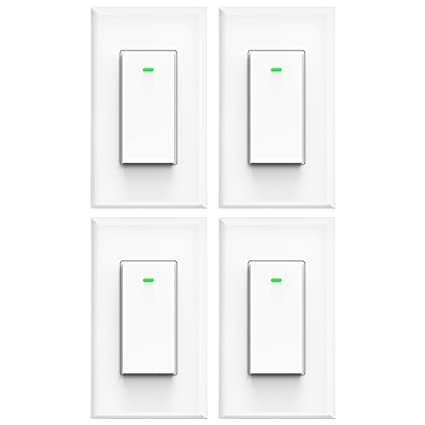 Amazon.com: micmi Smart Light Switch, Compatible with Amazon Alexa on light at end with wire, light and fan switch wiring, light switch with only two wires, light switch wiring ceiling fan,