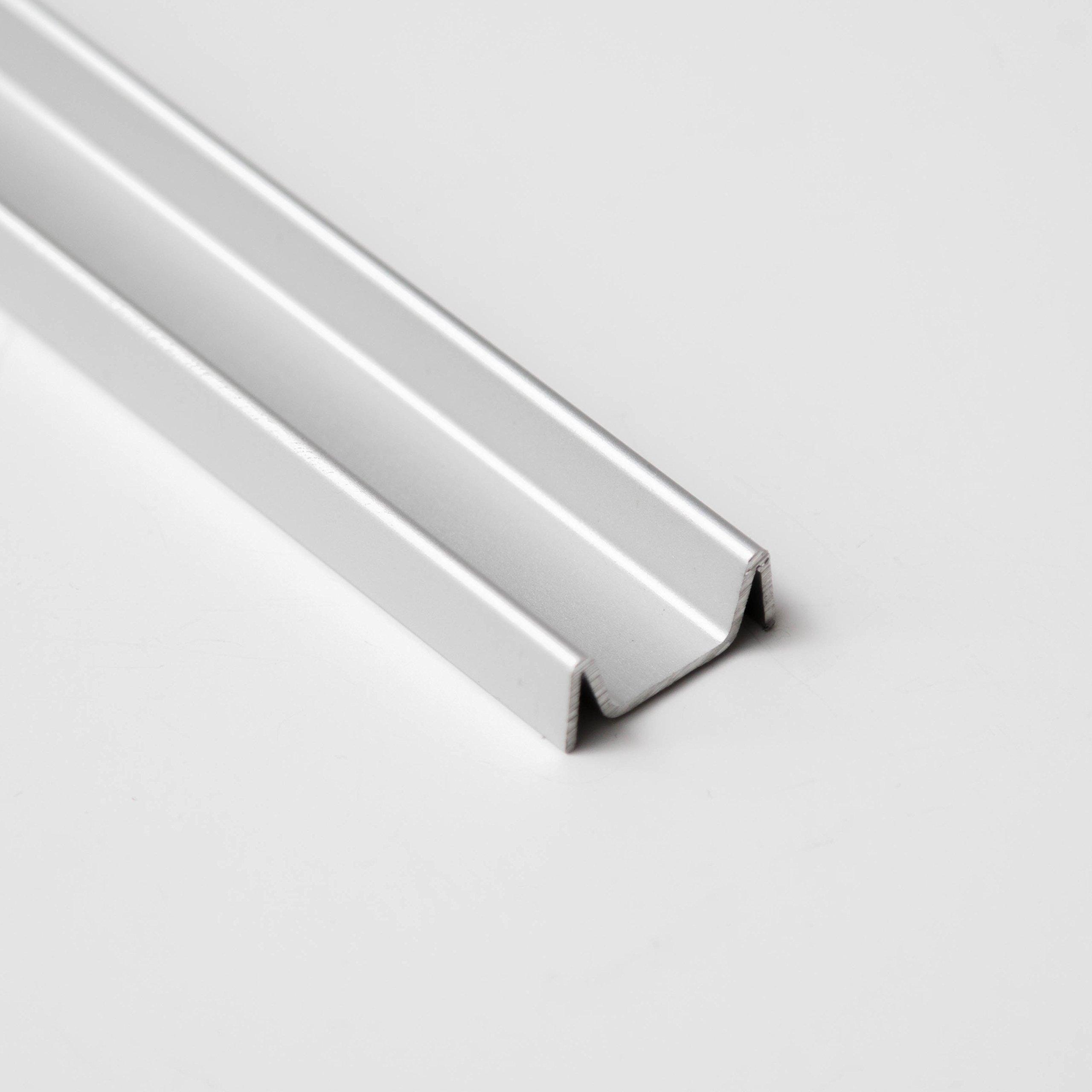 Sliding Screen Door Tracking - Silver Deluxe Double Bottom Track 72''