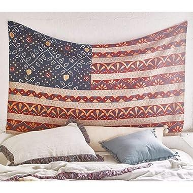 Americana Tapestry Beach Blanket Wall Art Bedspread Dorm Tapestry,60 x 80 ,Twin Size