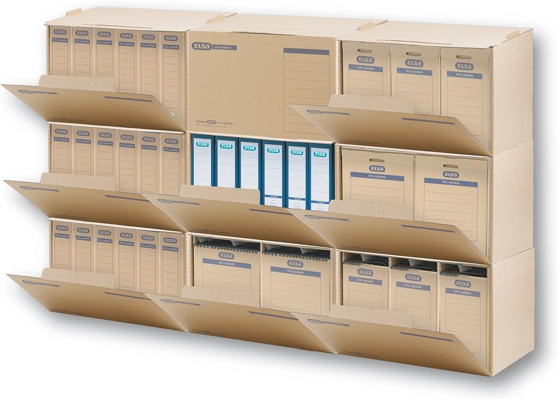 Elba 83530 Tric System Lot de 20 colis pour fichiers avec un dos /épais et champ pour adresse Marron naturel /Épaisseur jusqu/à 8/cm